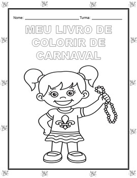 Carnaval/Mardi Gras Coloring Pages in PORTUGUESE