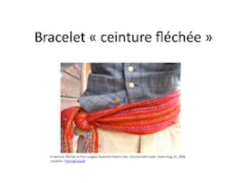 Carnaval de Québec: Ceinture Fléchée Bracelet ENGLISH version