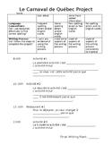 Carnaval de Quebec Project - FSL Ontario Curriculum with Rubric