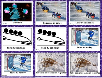 Carnaval de Québec – Québec Winter Carnival - French Matching Game