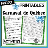 Carnaval de Québec/Winter Carnival activities - decode, wo