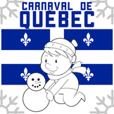 Carnaval de Quebec Winter Carnival - English, No Prep with Answer Key