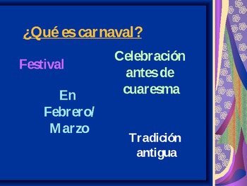 Carnaval - the PPT