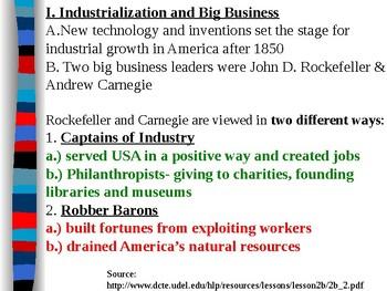 Carnegie and Rockefeller Captains of Industry or Robber Barons Presentation