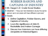 Carnegie and Rockefeller Captains of Industry or Robber Ba