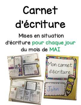 Carnet d'écriture-Mai