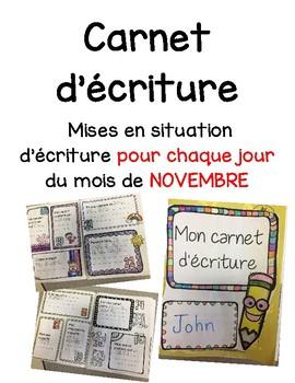 Carnet d'écriture-Novembre
