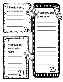 Carnet d'écriture-Octobre
