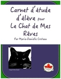 Carnet d'étude d'élève pour Le Chat de Mes Rêves