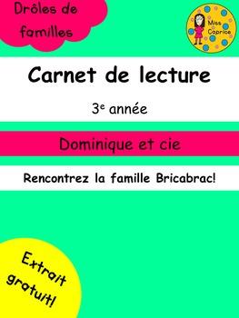 Carnet de lecture - 3e année - Extrait