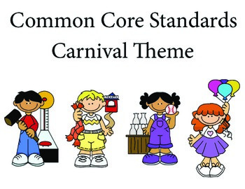 Carnival 1st grade English Common core standards posters