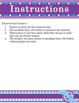 Carnival 2-Digit Addition Task