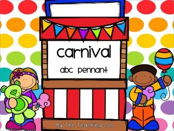 Carnival ABC Word Wall Pennant Banner