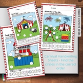 Carnival ABC Worksheets