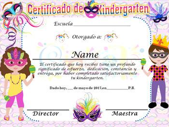 Carnival Achievement Award Complete editable!! Spanish & E