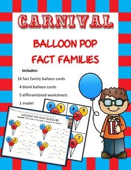 Carnival Balloon Pop Fact Family