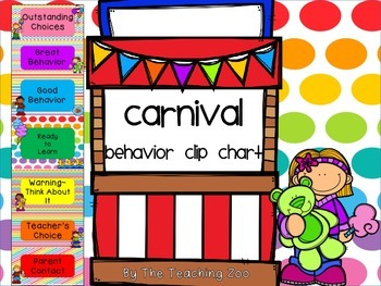 Carnival Behavior Clip Chart