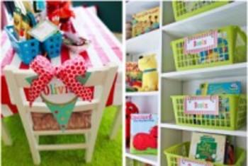 Classroom Decor Carnival Book Basket Labels