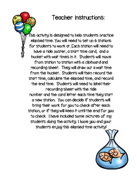 Carnival Capers: An Elapsed Time Activity