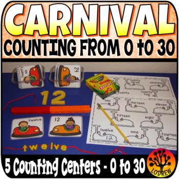 Carnival Centers Activities Counting To 30 Amusement Park Circus Math Centers