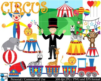 Carnival Circus Digital ClipArt Graphics 63 images cod41