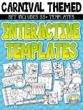 Carnival / Circus Flippable Interactive Templates {Zip-A-Dee-Doo-Dah Designs}