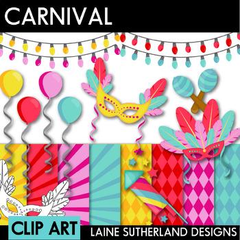 Carnival Clip Art and Digital Paper Set