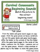 Carnival Consonants Beginning Sounds File Folder Game