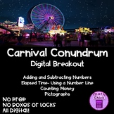 Carnival Conundrum Digital Escape Breakout Add Subtract Time Money Pictograph