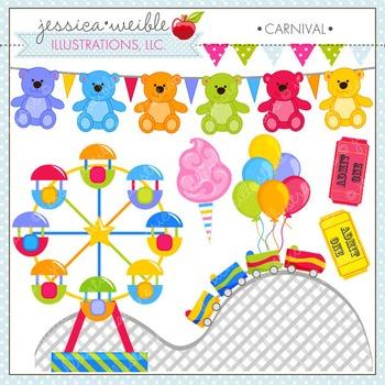 Carnival Cute Digital Clipart, Summer Clip Art, Amusement Park Graphics