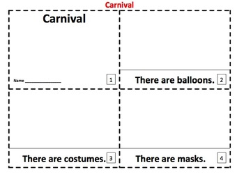 Carnival Emergent Reader 2 Booklets - ENGLISH