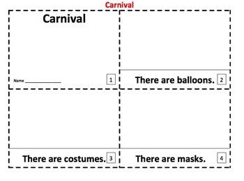 Carnival Emergent Reader 2 Booklets - ENGLISH