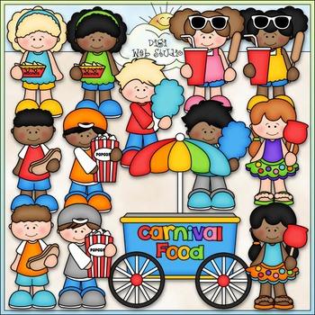 Carnival Food Clip Art - Carnival Clip Art - Kids Clip Art - CU Clip Art & B&W