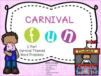 Carnival Fun Math Task Cards