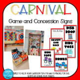 Carnival Game and Concession Signs