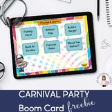 Carnival Games Freebie (Boom Cards, Distance Learning, Teletherapy)