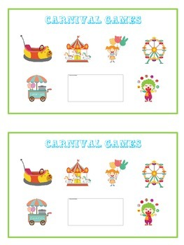 Carnival Games Math Folder Game - Common Core - Adding Doubles