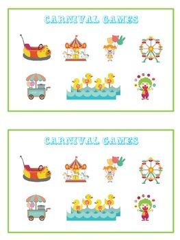 Carnival Games Math Folder Game - Common Core - Adding Near Doubles