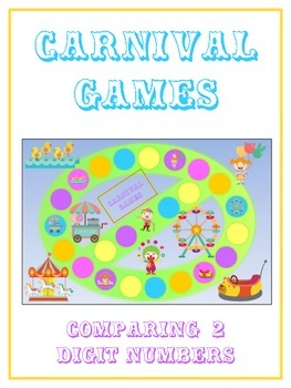 Carnival Games Math Folder Game - Common Core - Comparing