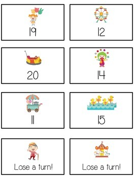 Carnival Games Math Folder Game - Common Core - Counting On From Number