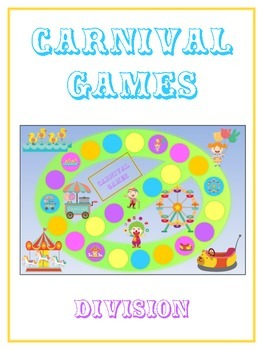 Carnival Games Math Folder Game - Common Core - Division - Dividing Numbers