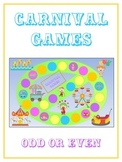 Carnival Games Math Folder Game - Common Core - Even and Odd Numbers