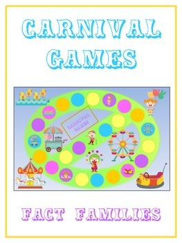Carnival Games Math Folder Game - Common Core - Fact Families