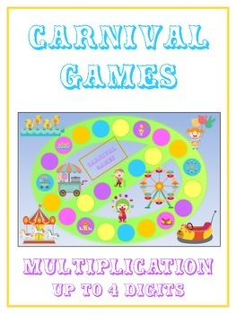 Carnival Games Math Folder Game - Common Core - Multiplica
