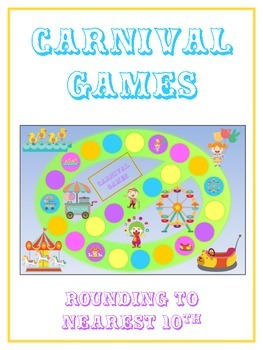 Carnival Games Math Folder Game - Common Core - Rounding t