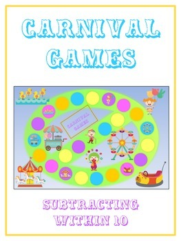 Carnival Games Math Folder Game - Common Core - Subtracting within 10