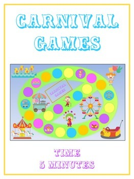 Carnival Games Math Folder Game - Common Core - Telling Time within 5 Minutes