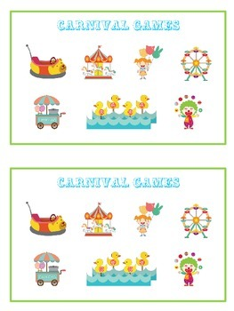 Carnival Games Math Folder Game - Common Core - Ten More and Ten Less