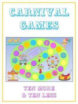 Carnival Games Math Folder Game - Common Core - Ten More a