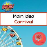 Carnival Main Idea Boom Cards™️ Speech Therapy